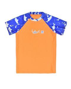 Short Sleeve Rash Top Shark Orange