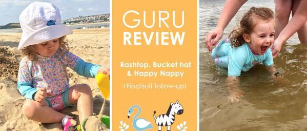 Guru Reviews Emma & Eva: UV Floatsuit, Sun Hat & Rash Top