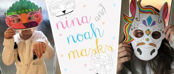 Nina's and Noah's Ark Masks