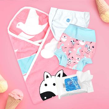 Girls Baby Swimwear Bundles Image Ninas Ark Print